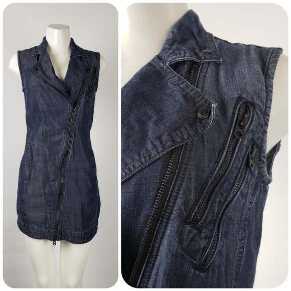 Raw G-Star Denim Sleeveless Dress Size M